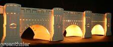 Schwibbogen-Erhöhung Sockel Augustusbrücke Dresden 72cm Erzgebirge Unterbank NEU