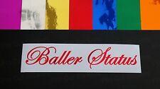 BALLER STATO AUTO VINILE ADESIVI DECAL SPECCHIO Chromes 7 Colours fustelle scena