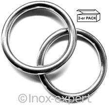 2 Stk. Ringe D-Ring Edelstahl V4A Rostfrei Edelstahlring Öse Edelstahlringe Niro