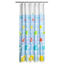 Cortina de ducha, poliéster, 12 Ganchos de Plástico