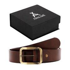 Affilare Men's Genuine Italian Leather Dress Belt  40mm Black Brown 12ST40