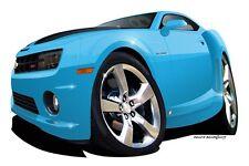 2010 SS MUSCLE CAR REPLICA CARTOON T-SHIRT #6743 camaro automotive art