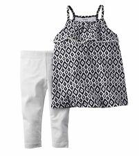 Carter's NWT 2T 3T 4T 5T Toddler Girl Top Tunic legging Set $28