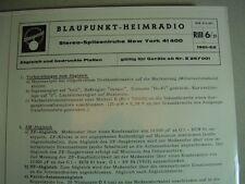 C643/ Blaupunkt-Heimradio Stereo Spitzentruhe New York 414000 Abgleich