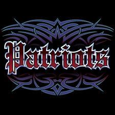 NEW Patriots Tattoo Style Hoodie Hooded Sweatshirt 4XL 5XL New England Blue Wave