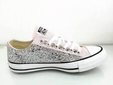 Converse all star Basse glitter argento Barely Rose Personalizzate Artigianali