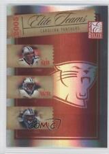 2005 Donruss Elite Teams Red #ET-5 Jake Delhomme Stephen Davis Steve Smith Card