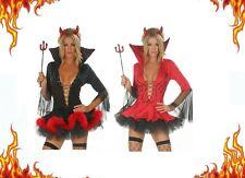 LADIES RED DEVIL HALLOWEEN COSTUME GENUINE UK SIZES 6-16 GOTH