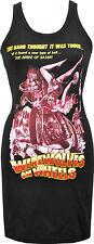 LADIES BLACK DRESS WEREWOLVES ON WHEELS BMOVIE HORROR MOTORBIKE COVEN SKULL S-XL