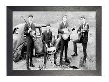 The Beatles 5 English Rock Band Lennon Poster Music Legend Star Black White