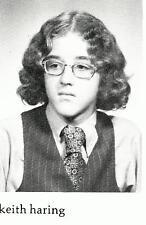 KEITH HARING  High School Yearbook  SENIOR Year  ARTIST