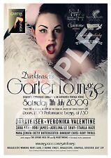 Garter Lounge (4) , Retro Burlesque  advertising Poster reproduction.