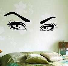 Wall Vinyl Decal Woman Eyes Super Sexy Hair Beauty Salon Decor Bedroom z3750