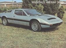 1980 1981 Maserati Merak 2000 Original Sales Brochure
