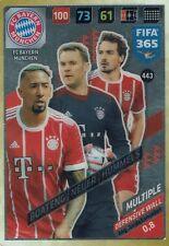 Panini FIFA 365 Adrenalyn 2018 Multiple Defensive Wall Bayern München Nr. 443