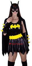Batgirl Bat Girl Fancy Dress Costume + Mask - M Medium 10-12-14
