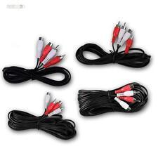 CinchVerlängerungskabel, Kabel Verlängerung 1,5m, 5m, 10m RCA Stereo Audiokabel