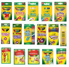 Crayola Crayons Supertips Twistables DryErase Markers Pencils Felt Tip Pen
