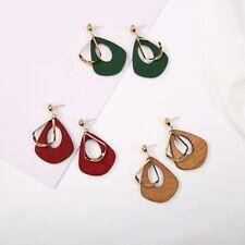 Retro Boho Vintage Wood Drop Earrings Hoop Dangle Ethnic Native Tribal Jewellery