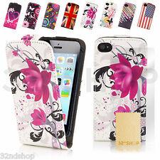 Diseño Abatible Cuero PU Billetera Estuche Cubierta + Protector de pantalla (iPhone & Samsung)