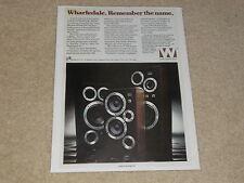 Wharfedale E70, E50, E30 Ad, 1 page, 1979, Specs, Article, Rare Info