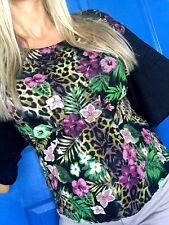 SAFARI URBAN Leopard Animal Leggings Floral Tees T-shirt Cotton L 1X 2X 3X