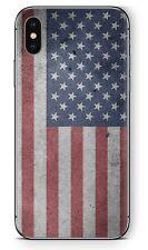 Apple iPhone Schutzfolie Skin Design Aufkleber X XS Xr XS MAX Sticker USA Flag
