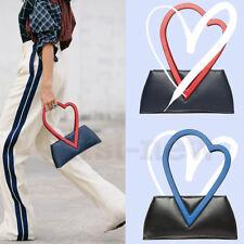 Womens Loving Handbag Faux Leather Solid Square Evening Clutch Bag Shoulder Bags