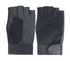 Unisex Hombres Damas Sin Dedos Cuero Guantes de conducción moto chofer de moda