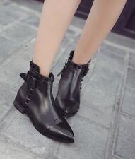 botas bajo tacón bajo 3.5 cm negro elegantes como piel 9024