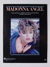 "Madonna/Original Sheet Music for ""Angel"""