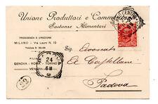 UNIONE PRODUTTORI COMMERCIANTI ALIMENTARI 1907 MILANO VENEZIA GENOVA TORINO ROMA