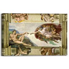 Michelangelo soffitto Cappella Sistina quadro stampa tela dipinto telaio arredo