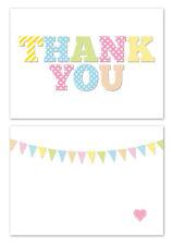 carte de remerciements Blanc & Patchwork effet lettres 24 par paquet,