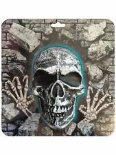 Kunststoff Form Totenkopf Schild Wandbehang Requisite 3D Halloween Trick