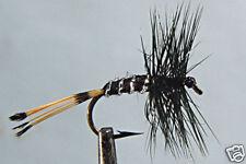 10 x Mouche Pennel Noire H14/16/18 truite mosche black fly