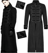 Manteau gothique dandy baroque broderies galons militaire hiver Punkrave Homme