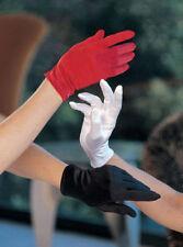 Gants en Satin Courts (Noir, Blanc, Rouge, Ivoire) Mariage Opéra