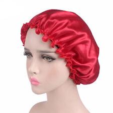 Ladies Women's Turban Wide Band Satin Bonnet Night Sleep Hat Hair Loss Cap