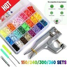 600/1440Pcs DIY Clothes T5 Plastic Fastener Snap Fastener Resin Stud Cloth Kit