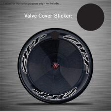 VCS005 - 6x Black Disc Wheel Valve Covers/Patches - Zipp Hed Corima FFWD