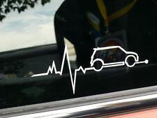 Battito Cardiaco ECG MINI COOPER S Adesivo Decalcomania Auto ONE D WORKS BMW Clubman