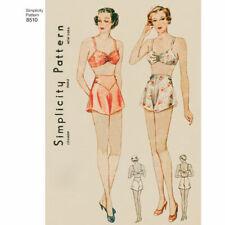 S8510 Simplicity 8510 Sewing Pattern Vintage 1930s Brassiere Panties Lingerie
