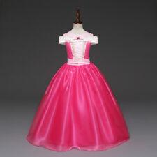 US Stock ! Girls Sleeping Beauty Aurora Party Fancy Dress Costume Size 2-8 [O80]