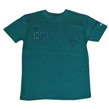 NFL Miami Dolphins Reebok Scarpa Camp Sideline Tee Youth T-Shirt DK3115 Aqua