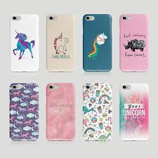 iPhone Samsung Hard Phone Case Cute Unicorn Animal Horse
