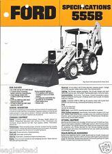 Equipment Brochure - Ford - 555B - Tractor Loader Backhoe c1986 (EB372)