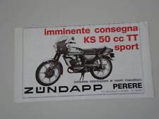 advertising Pubblicità 1977 ZUNDAPP KS 50 TT SPORT