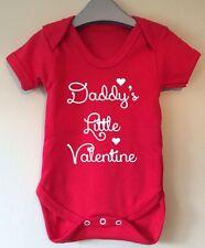 DADDY'S LITTLE VALENTINE BABY BODY VEST BABY GRO GIFT IDEA GIRL BOY