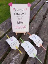 Signo De Boda Personalizado Glow/palo de etiquetas que Amor Glow potable/Sparkle
